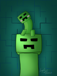 Minecraft creepers by Angelic-Sinnerz