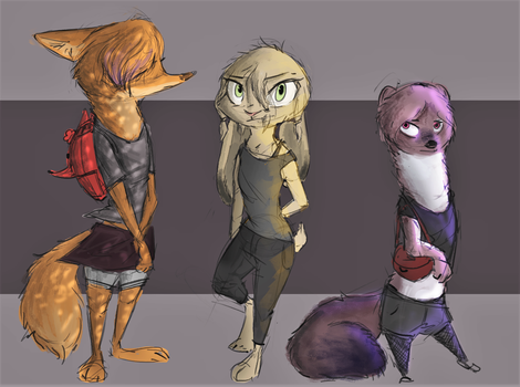 [Zootopia] Drifter Project - Character designs 1 by SprinKah