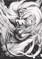 The Mermaid an her Prince Charming by Violette-Aner