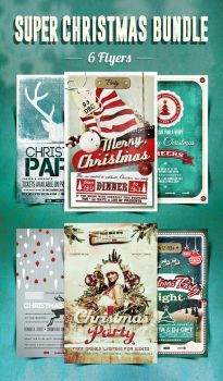 6 Flyers Super Christmas Bundle by another-graphic