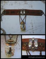 Cat's Secret Steampunk Choker by CheshireGhost