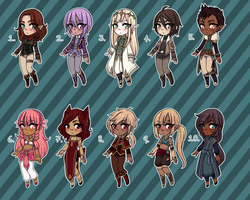 [Closed] Fantasy Adopts 9 by princesawyer