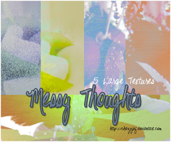 TEXTURE PACK 4 - MessyThoughts by chazzief