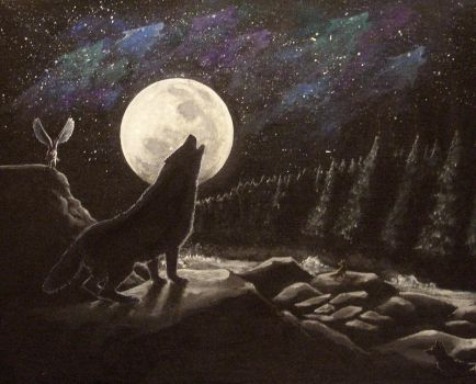 Howling with the Sky by KaiserFlames