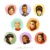 ATLA: the gaang and then some (color) by N3L