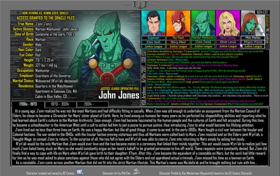 [Earth-27: Oracle Files] J'onn J'onzz (1/3) by Roysovitch