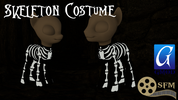 (DL)(SFM)(GMOD) Skeleton Costume by Dracagon