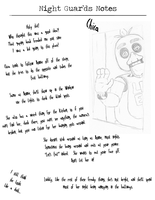 NightGuardsNotes-Chica by SpringlockedFoxy