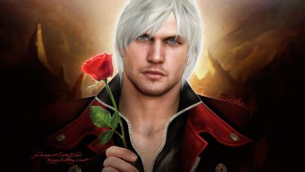 Photorealistic Dante (The Devil May Cry 4) by push-pulse
