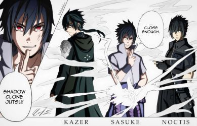 Lost soul aside x Naruto Shippuden x Final Fantasy by lam0012
