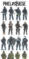 Pixel Six: Siege, The Original Collection by Fujinaka