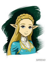 Breath of the Wild Zelda by supereva01