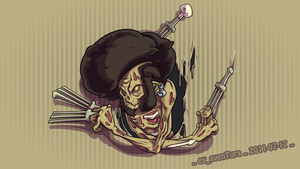 The Afro Ninja Zombie... HARRR by Dillerkind
