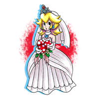 (FanArt) Wedding Peach by DNPinotti123