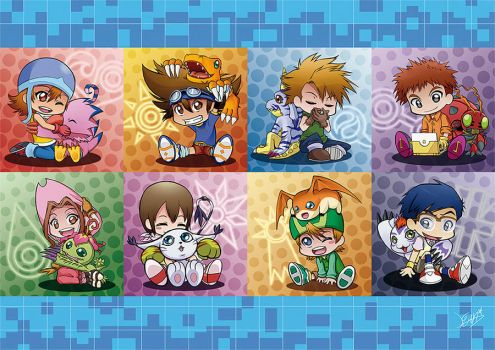 Digimon Adventure (chibis) by Lina17Inverse