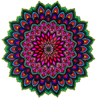Rainbow Coloured Mandala by WelshPixie