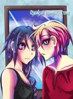 At the window pane by RyuKais-Comix