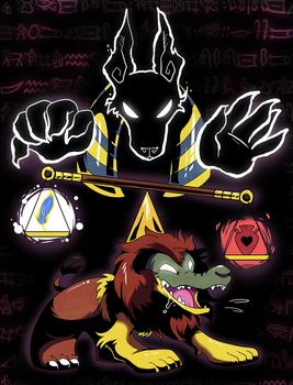 Anubis and Ammit by raizy