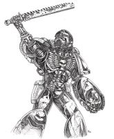 Warhammer 40k space marine sgt by old-stone-road