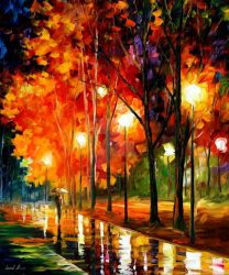 REFLECTIONS OF THE NIGHT by Leonid Afremov by Leonidafremov