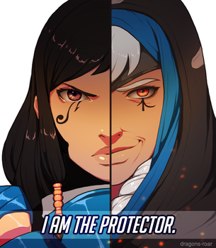 OVERWATCH: PHARAH AND ANA by Dragons-Roar
