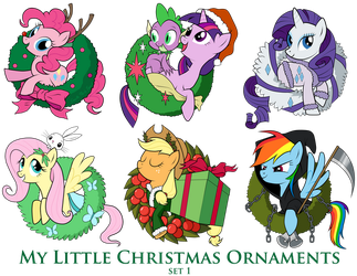 My Little Pony Christmas Ornaments Set 1 DOWNLOAD by SouthParkTaoist