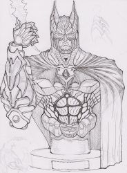BATMAN Bust sketch by the-real-ronin-X