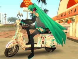 Domino's ft. Hatsune Miku (GTA SA Pizzaboy Mod) by Kevin-BS23