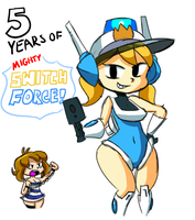 Mighty Switch Force 5th Anniversary by SonicAllStarsUSA