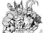 Thor and Loki by jaredjlee