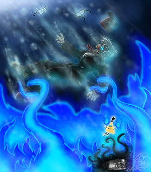 Stanford Pines and Bill Cipher - Dreamscapers by JadenLover12