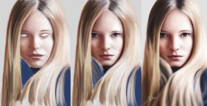 Portrait 3 - Maud Welzen [Drawing Process] by Nishant321go