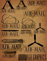 Airmail Brushes for Photoshop by KnightRanger