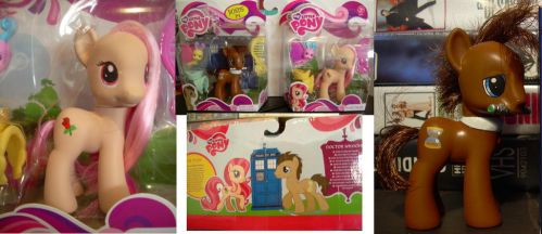 Dr Whooves and Rose my little pony g4 in box by Hatsetsut