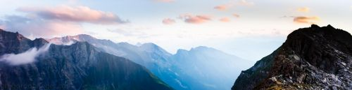 sky and mountains by inkoginko