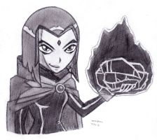 Raven with the Stank Ball by DrChrisman