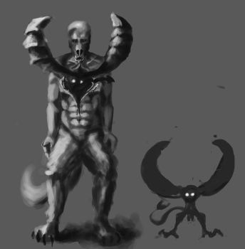 wearwolf baboon demon thing by AsiST