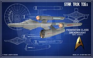 TOS.5 Federation Class WIP1 by dragonpyper