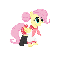 Sailor Fluttershy [AkikoDestroyer - Part 1] by Psalmie
