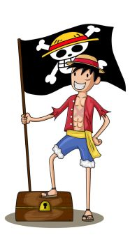 Monkey D. Luffy Adventure Time Style by McPato95