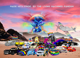 Made with pride, by the Living Machines fandom by LucyRotelli