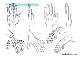Hand Tutorial 1 - Different Poses by anredera