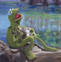 Banjo Playing Frog by N8KELLY