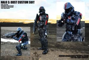 Completed HALO 3 ODST Custom Suit by JohnsonArmsProps