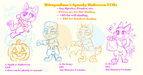 Mdragonflame's Spooky Halloween YCHs (CLOSED) by Mdragonflame