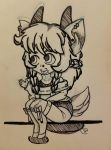 Sitting Pretty - Inked by Jellyfish-Magician