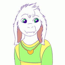 Undertale Asriel Animation by Rethza