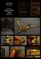 Miniature Sten Gun by Carl-Seager