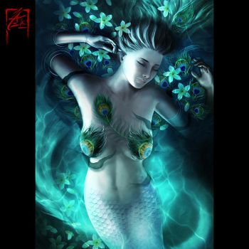 Mermaid Canvas Print by zae1X
