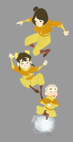 Airbending Kids by fooshigi